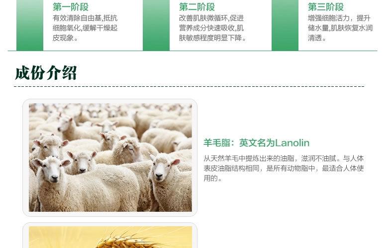 G&M 营养保湿滋润纯天然绵羊油成分介绍