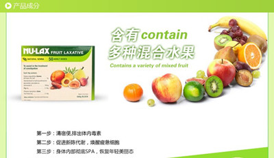 NU-LAX Fruit Laxative 乐康膏产品成分