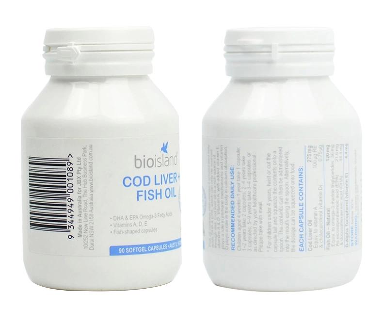 BIO ISLAND 婴幼儿顶级鳕鱼肝油含DHA和VE 产品展示