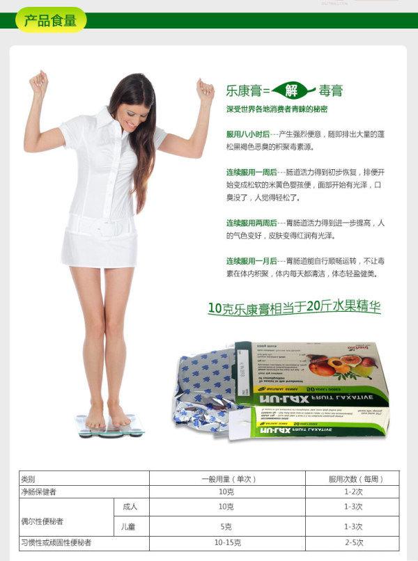 Nu-lax乐康膏产品食量