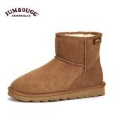 JUMBOUGG澳洲羊皮毛一体雪地靴冬季短靴平底防滑女靴