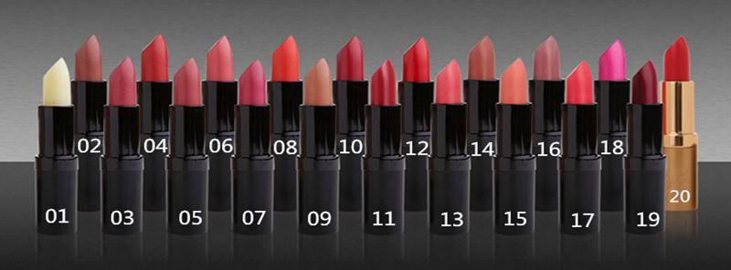 新西兰有机Karen Murrell可以吃的天然口红 17艳粉色颜色分类