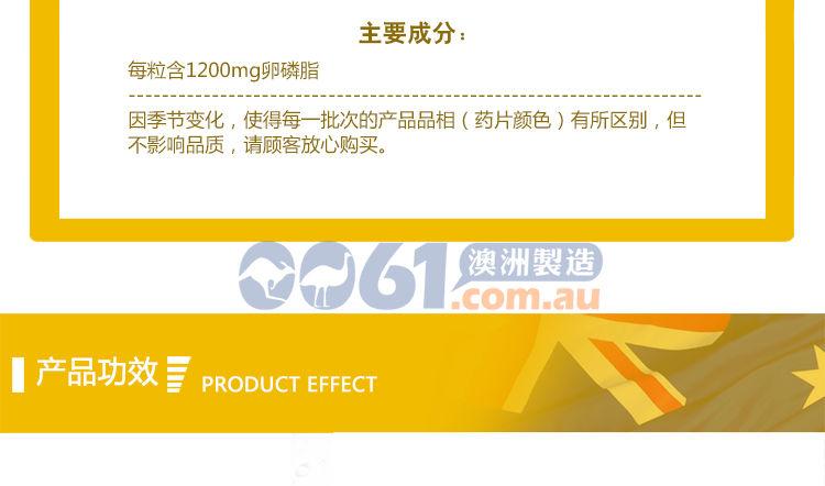 Healthy Care大豆卵磷脂1200mg 100粒产品成分