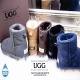 ozwear经典款短筒雪地靴羊皮毛一体简单防滑显高保暖女靴OB017 II