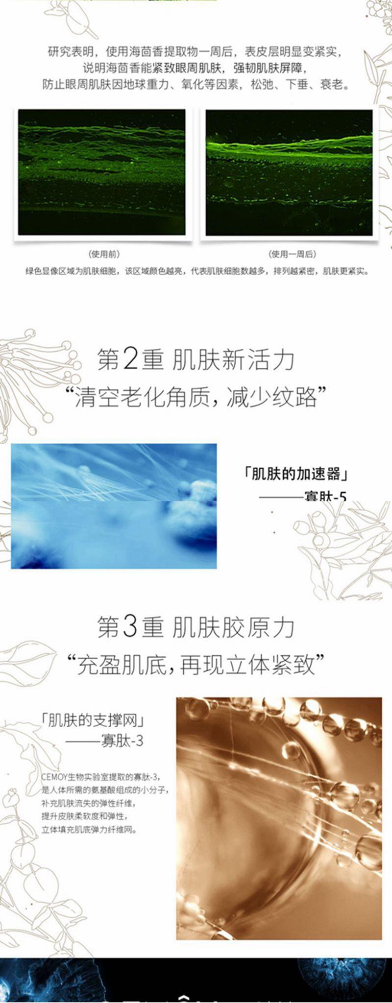 Cemoy4D反重力飞碟眼霜带走重力纹 功效