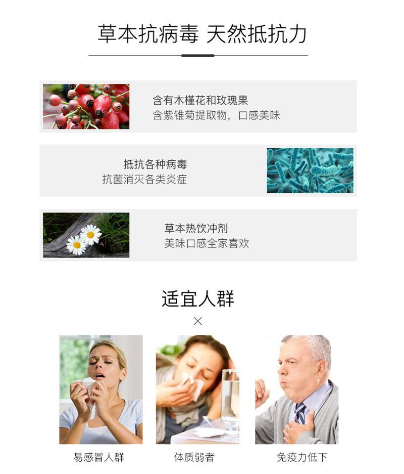 Swisse斯维诗免疫防御草本热饮冲剂缓解感冒提高免疫7 成分