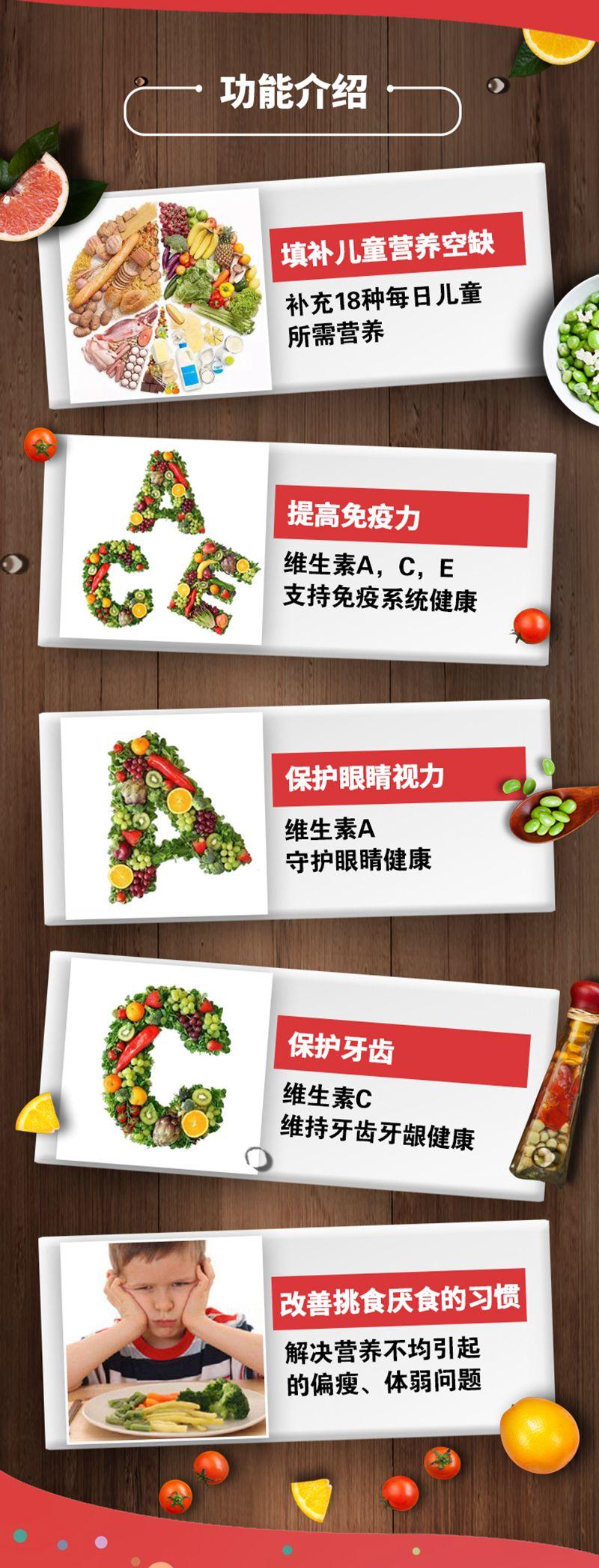 善存Centrum儿童小草莓复合维生素60粒 功效